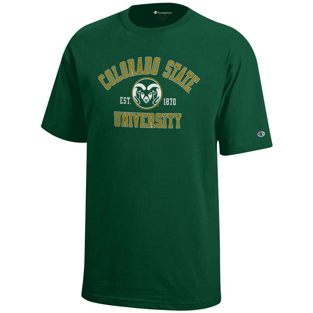 Image For Champion® Basic Colorado State University Youth Tee Green