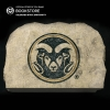 "Image for 9"" CSU Ram Head Garden Stone"