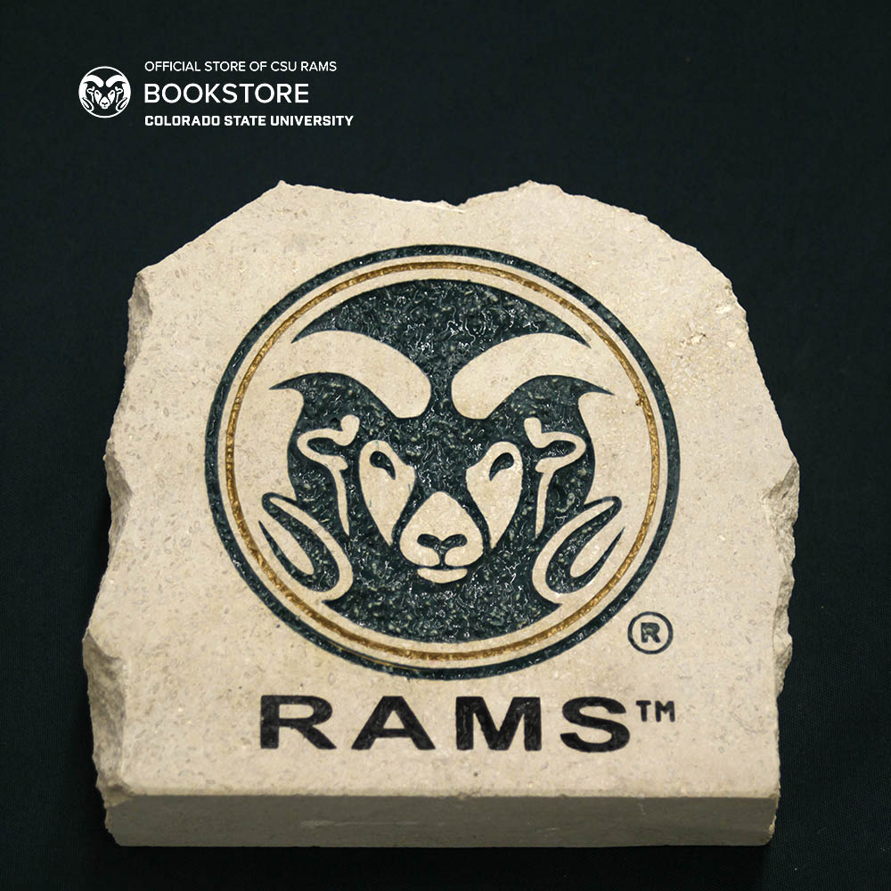 "Image For 7"" Ram Head With Rams Text Garden Stone"