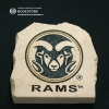 """Image for 7"""" Ram Head With Rams Text Garden Stone"""