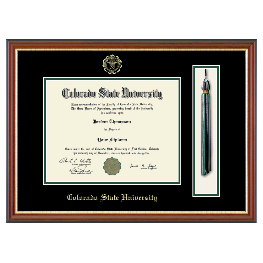 Image For CSU Newport Diploma Frame with Tassel Display