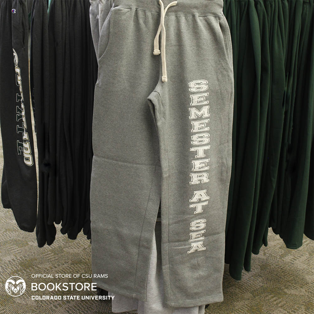 Cover Image For Semester at Sea Graphite Open Bottom Sweatpants by MV Sport