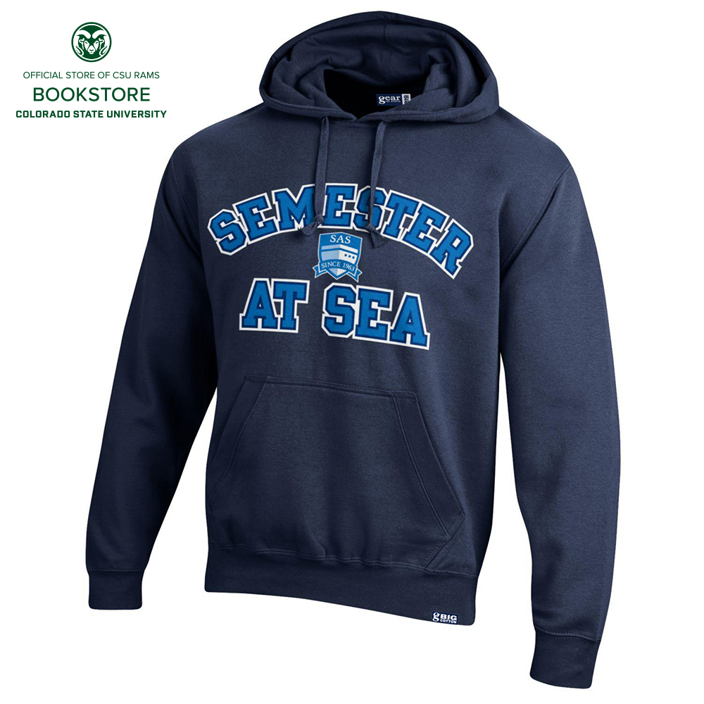 Image For Navy Semester At Sea Big Cotton Hoodie