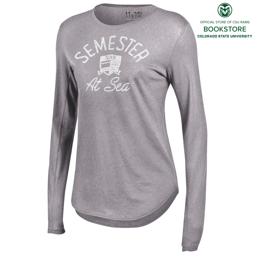 Cover Image For Women's Semester at Sea Heather 60/40 Tee by Under Armour
