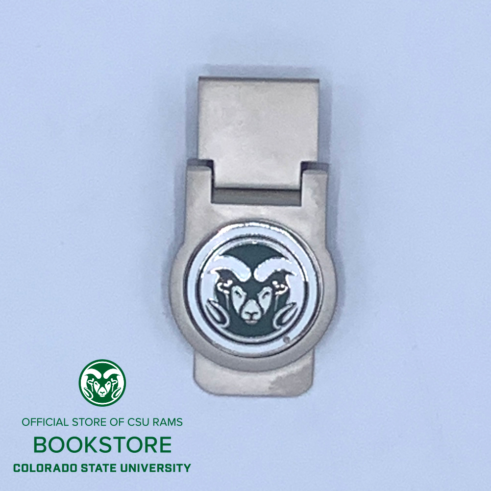 Image For CSU Ram Head Money Clip with Hinge