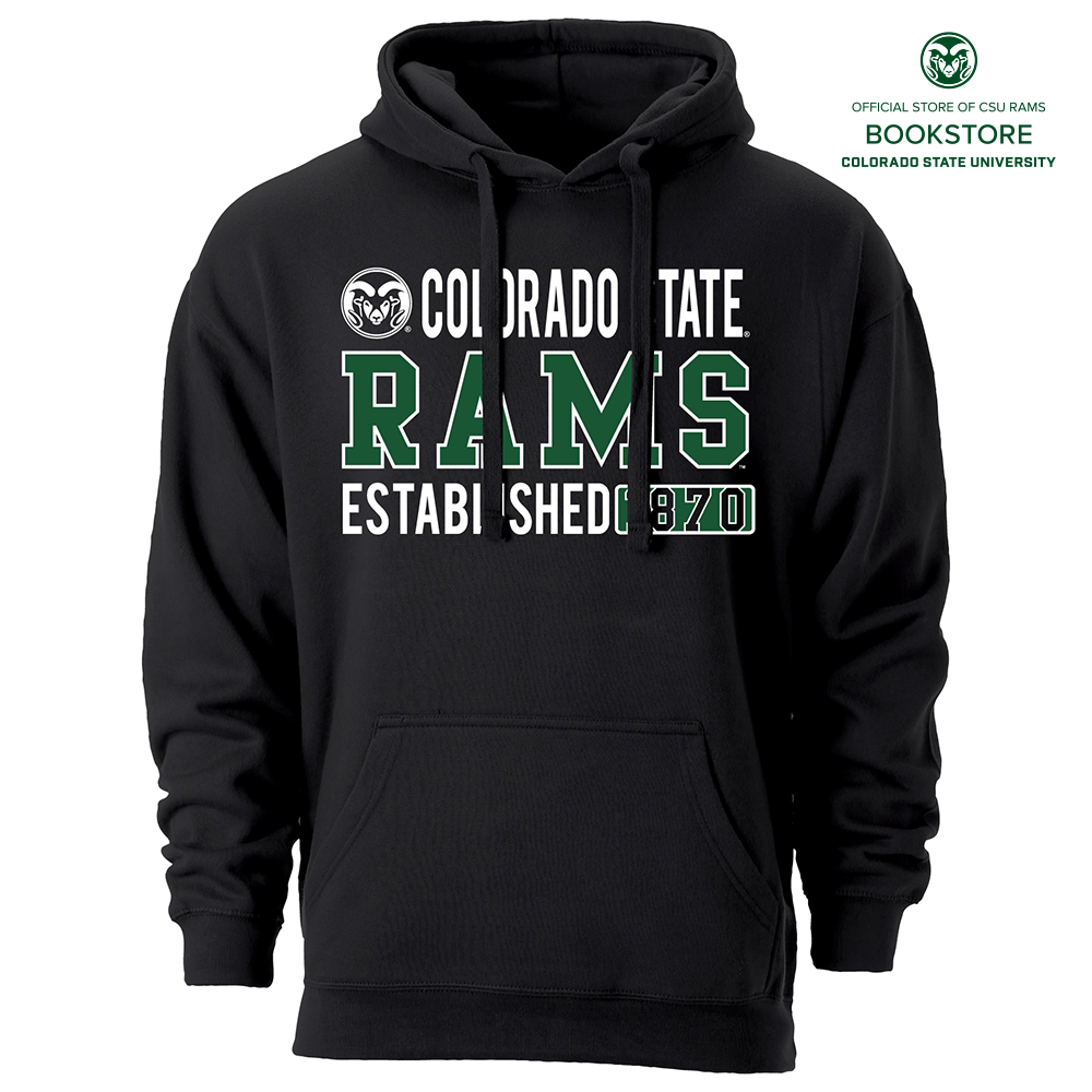 huge selection of 3861a f5ba3 CSU Rams Black Hooded Sweatshirt by Ouray