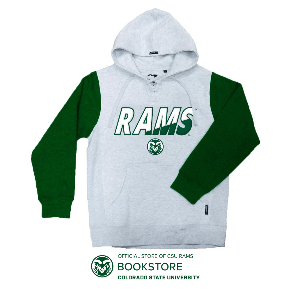 Image For Ash and Forest Green CSU Rams Hockey Hoodie by CI Sport