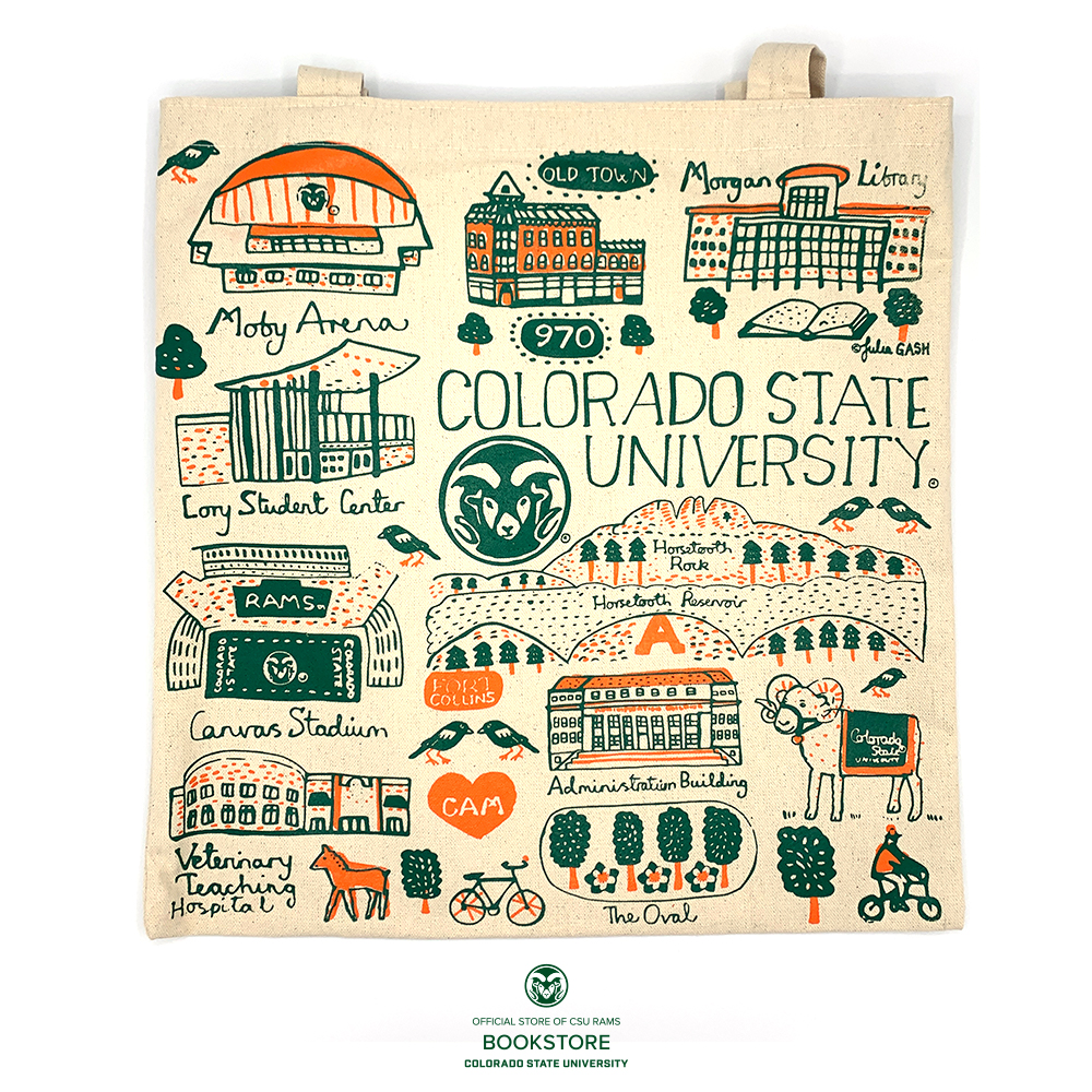 Image For Colorado State University Slim Tote Bag