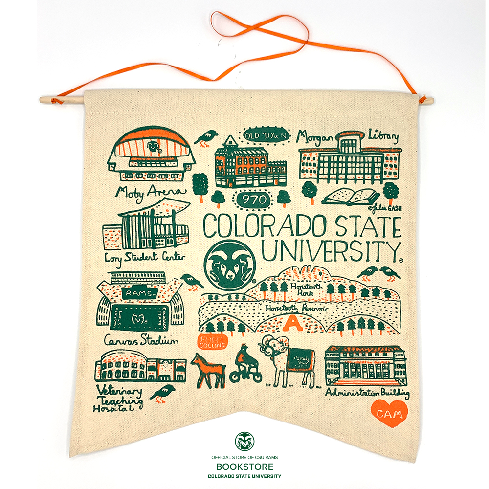 Image For Colorado State University Large Julia Gash Canvas Banner