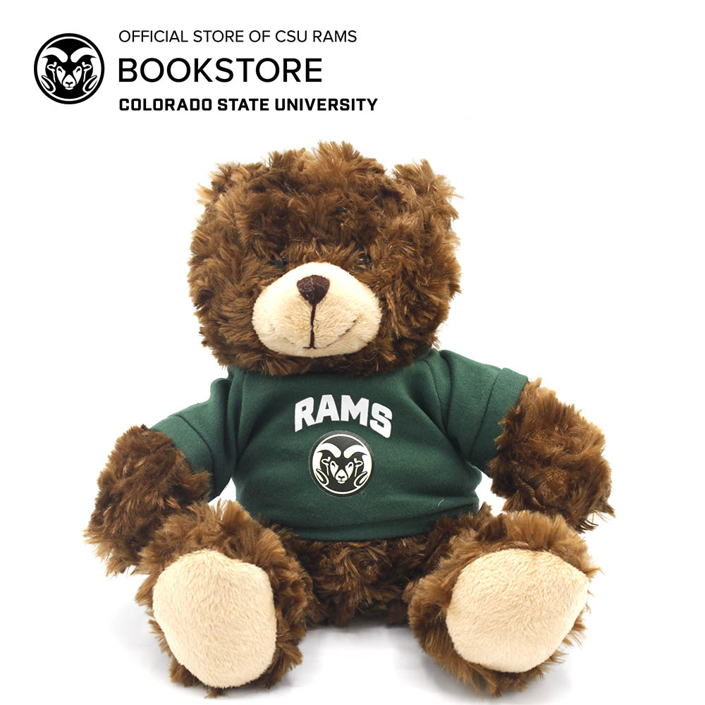 Image For Chocolate Plush Bear With Rams T-shirt