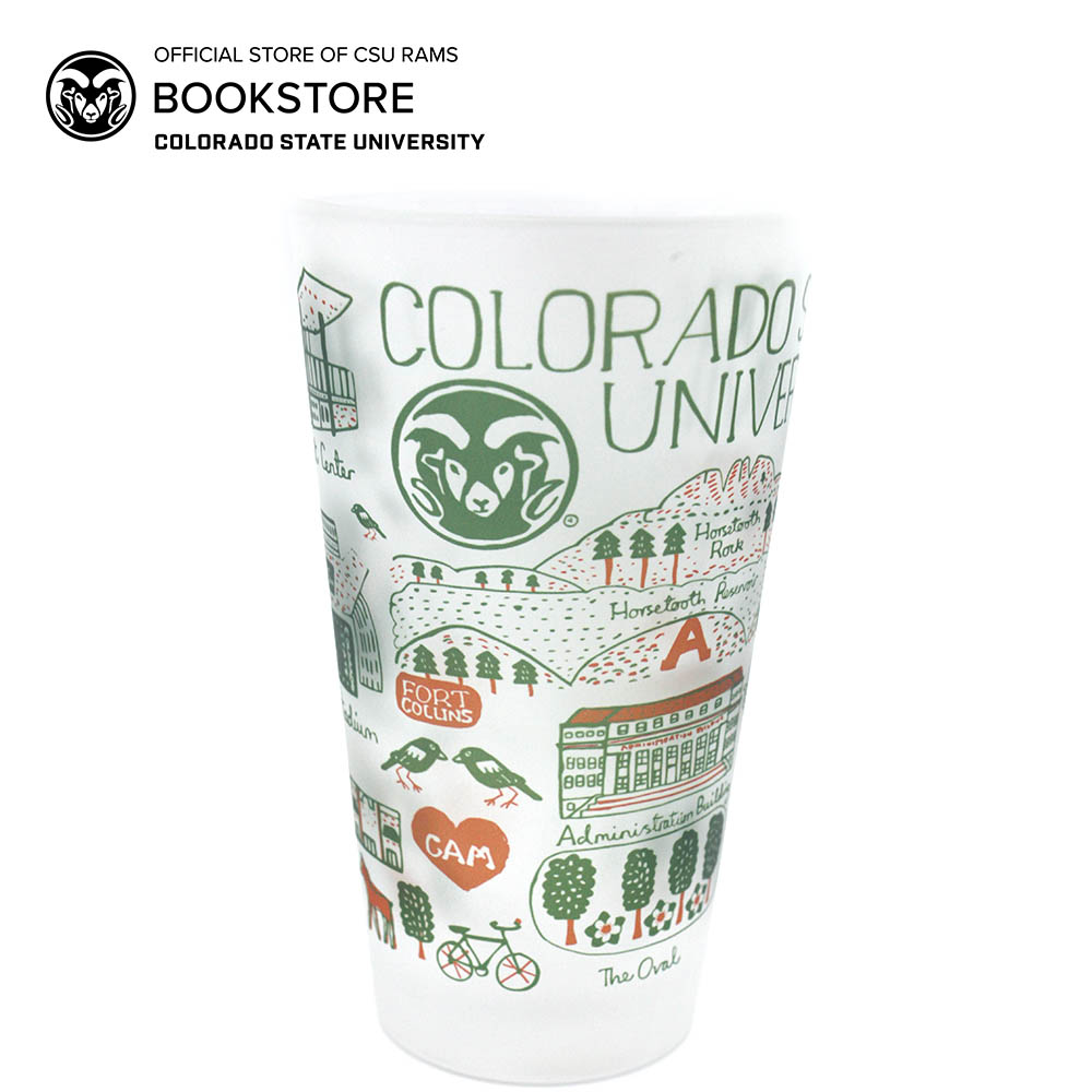 Cover Image For Julia Gash Colorado State 16 oz Frosted Pint Glass