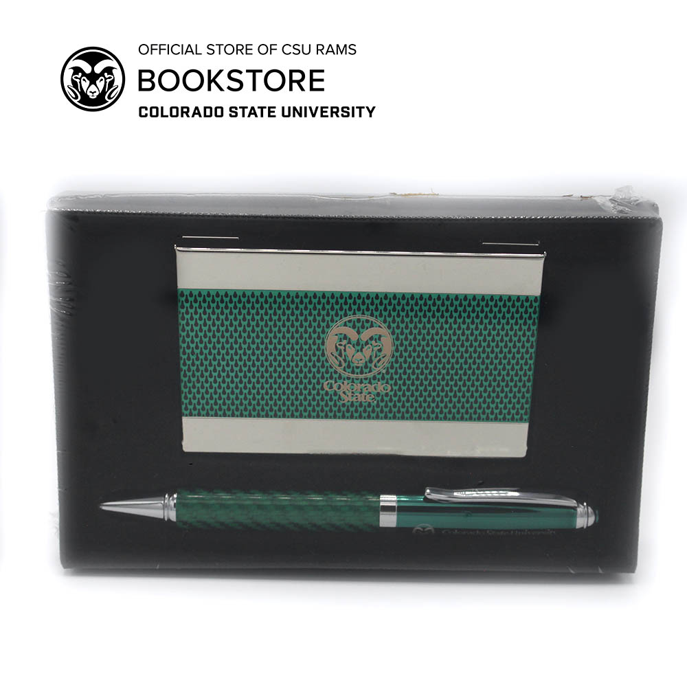 Cover Image For Colorado State Card Holder & Pen Set