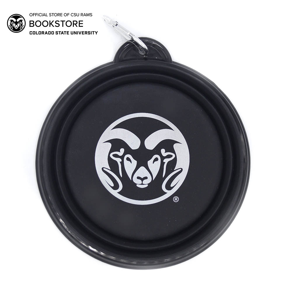Image For Black CSU Silicone Dog Bowl