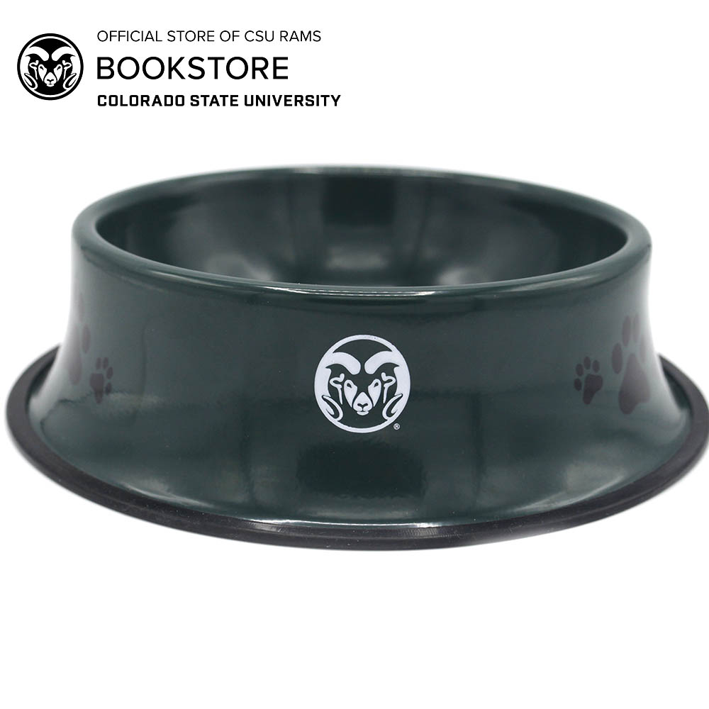 Image For CSU Green Metal Pet Bowl