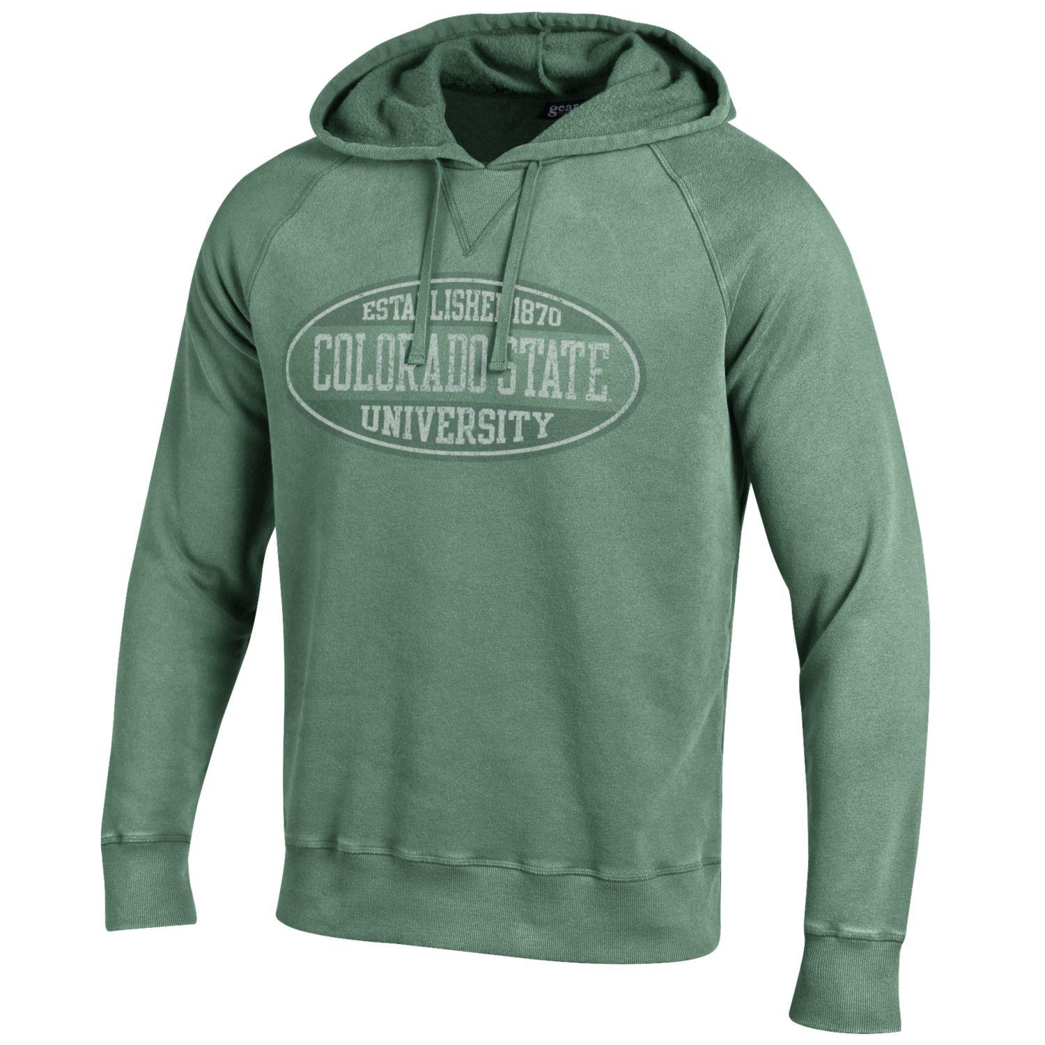 Image For Natural Green Outta Town CSU Hoodie
