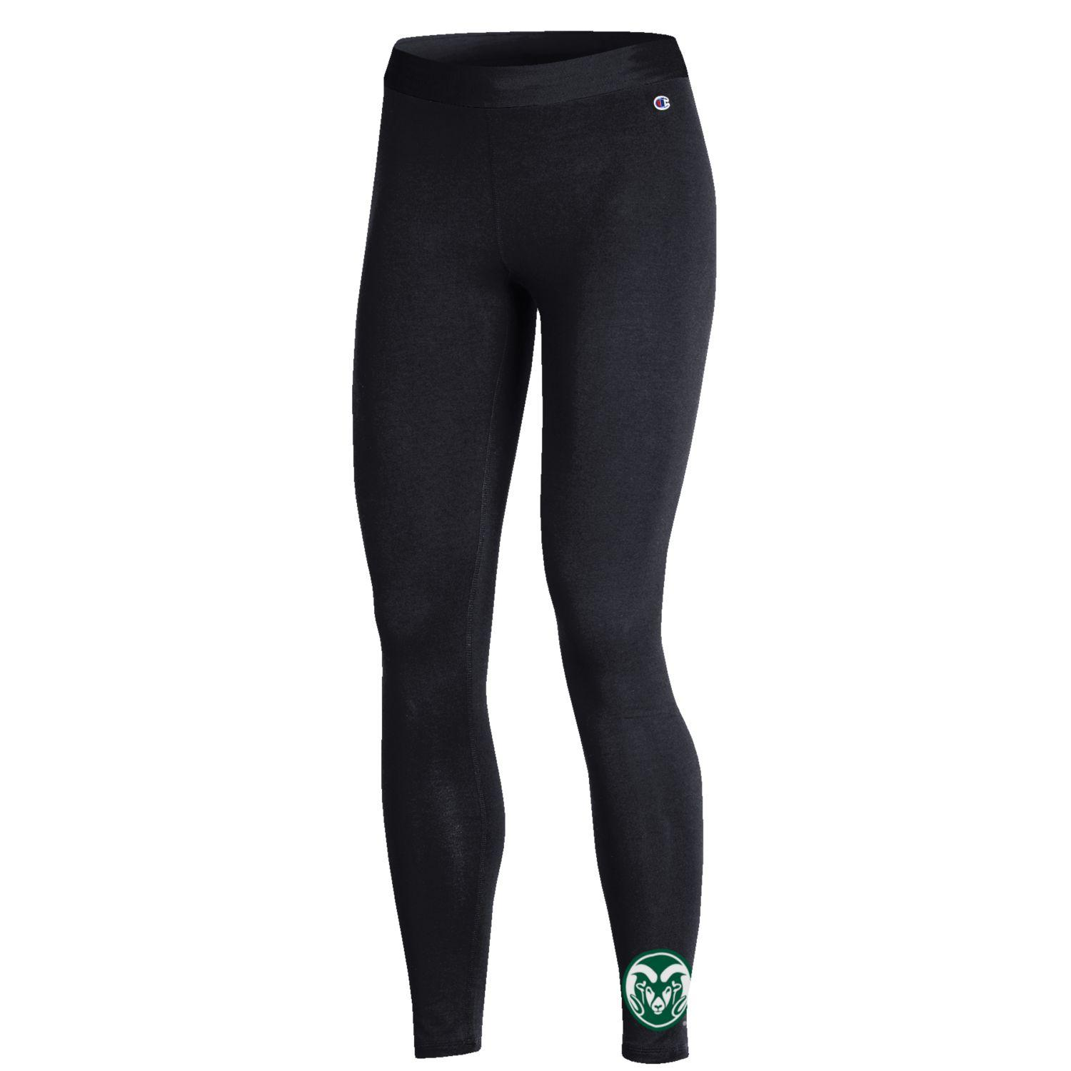 Image For CSU Ram Head Black Cotton Stretch Leggings by Champion
