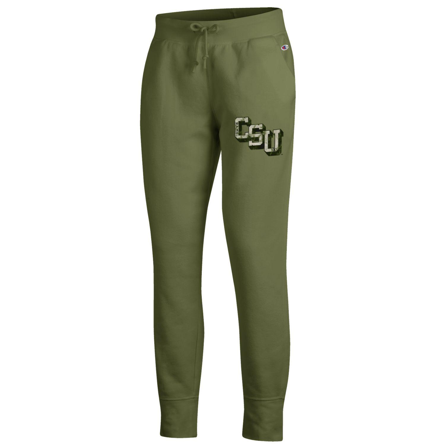 Image For CSU Olive Green Fleece Joggers by Champion