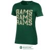 Image for Green Women's Repeated Rams Tee by Champion