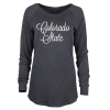 Image for Colorado State Long Sleeve Charcoal T-Shirt