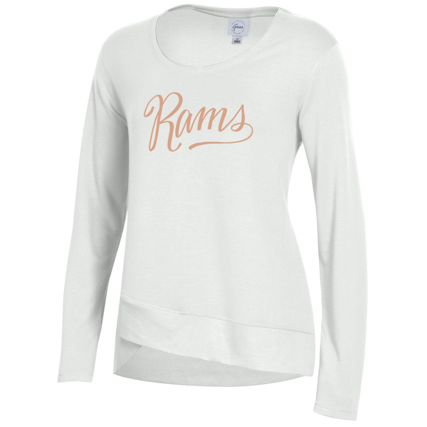 Image For White Rams Fleece Long Sleeve