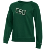 Image for Green CSU Letter Long Sleeve Crew by Champion