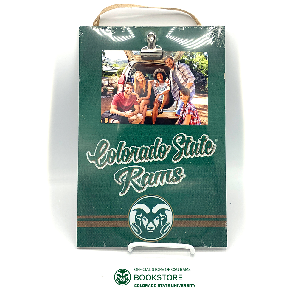 Cover Image For Colorado State Rams Hanging Photo Board