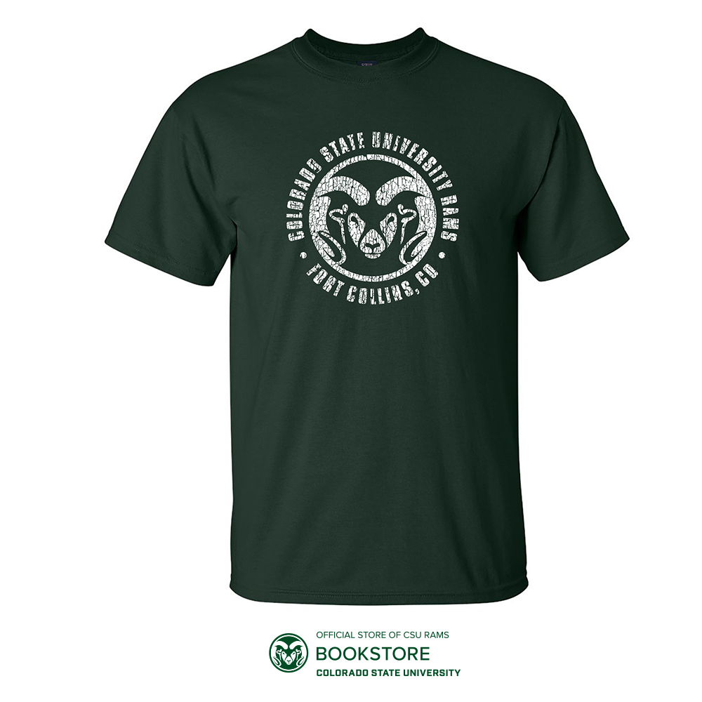 Image For CSU Green RamHead Tee by MV sport