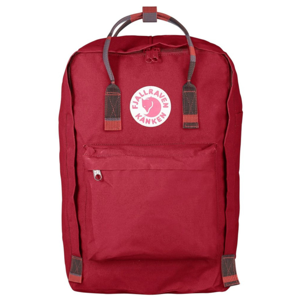 "Image For Kånken 17"" Laptop Backpack in Deep Red-Random Blocked"