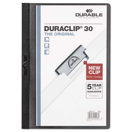 Cover Image For Durable Vinyl Black DuraClip Report Cover