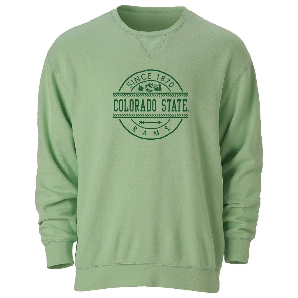 Image For Lime Colorado State Long Sleeve Crew
