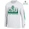 Image for Ram Nation White Basic Long Sleeve Tee by Champion