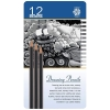 Image for Pentalic Drawing Pencils 12 Pack