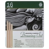Image for Pentalic Graphite and Charcoal Drawing Set 16 Pack