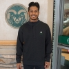 Image for Charcoal Quarter Zip CSU Rams Pullover by Horn Legend