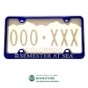 Image for Blue Semester at Sea License Plate Frame
