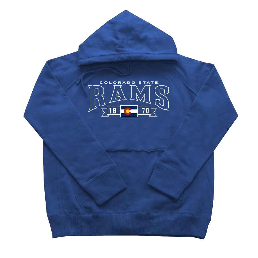 Image For Royal Blue Raglan CSU Rams Hoodie by CI Sport