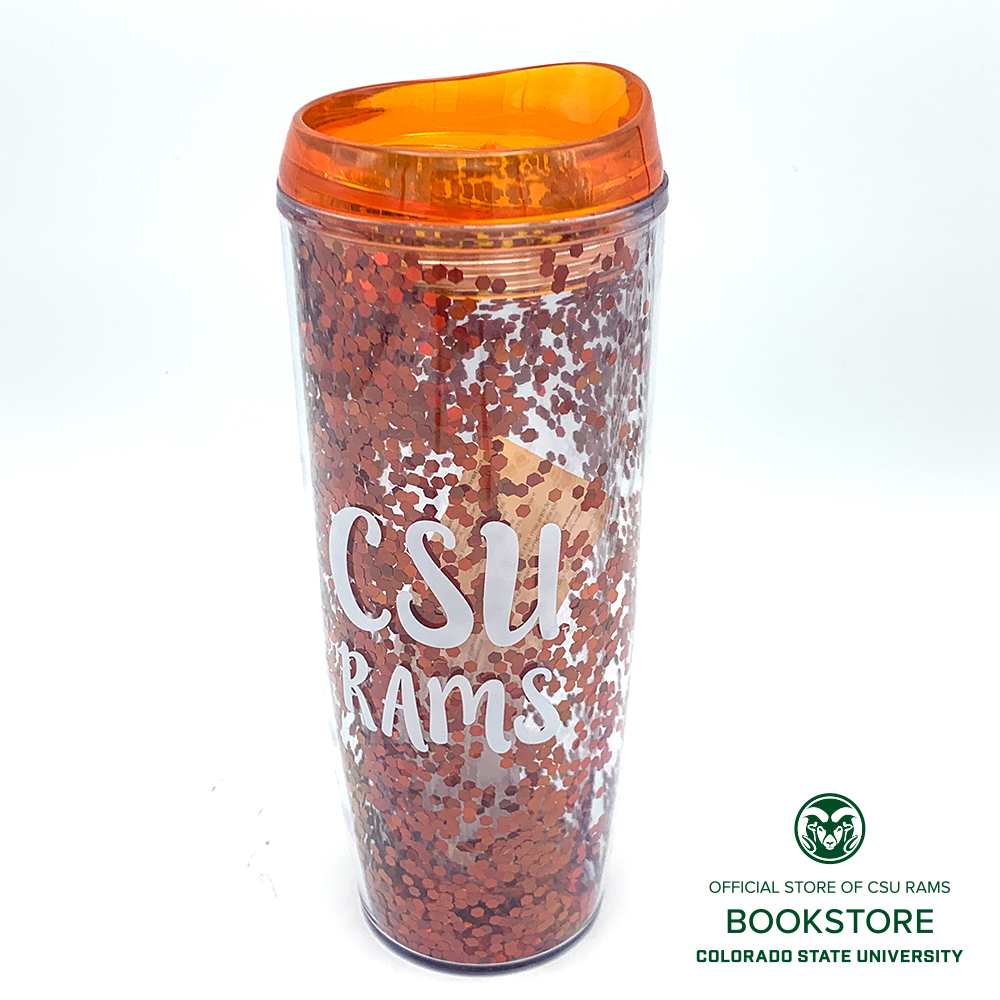 Image For 24oz Orange Glitterati CSU Tumbler