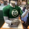 Image for Green CSU Performance Cotton Long Sleeve Tee by Under Armour