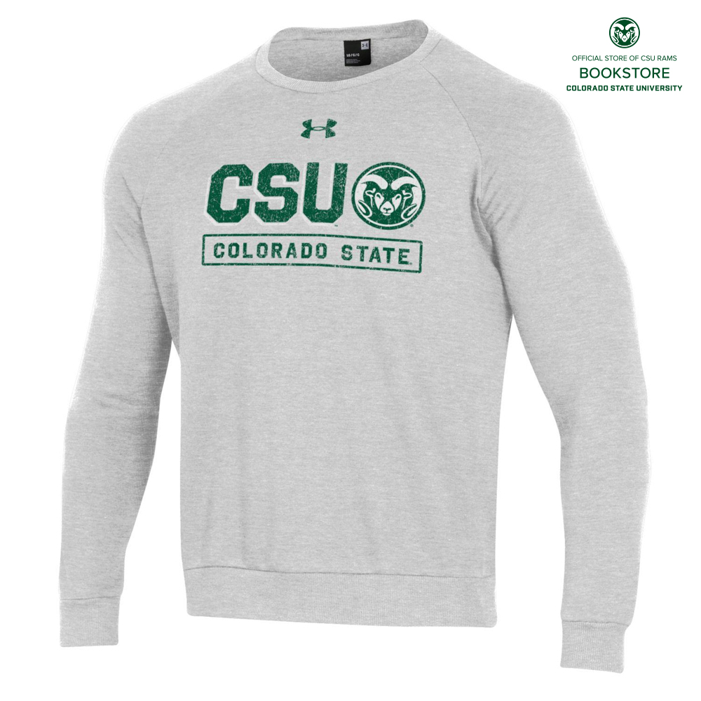 Image For CSU Rams All Day Crew Light Grey Sweatshirt by Under Armour