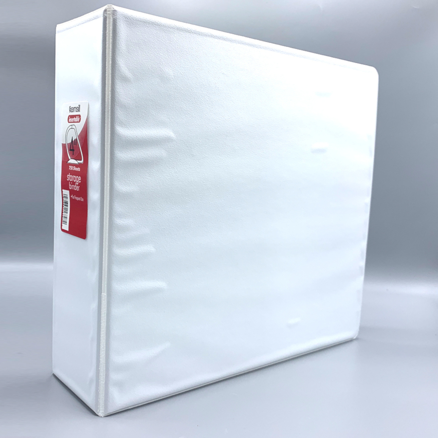 "Image For 4"" D-Ring White View Binder"
