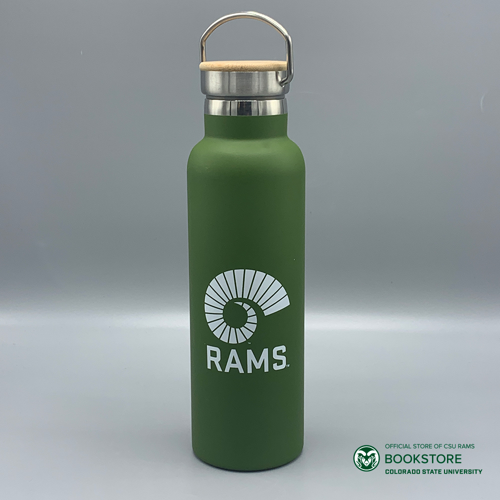 Cover Image For 21 Oz. Army Green Bamboo Lid Water Bottle