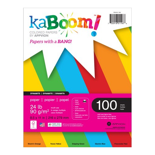 Image For KaBoom Assorted Colors Paper
