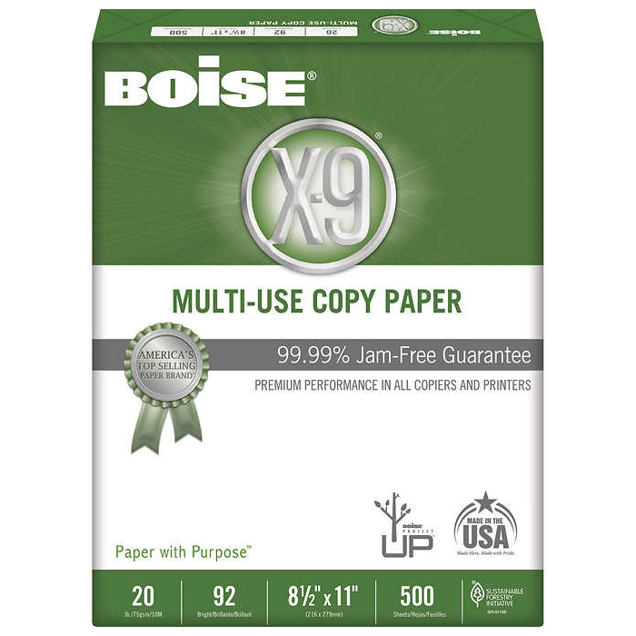 Image For Boise X-9 Multi-Use Copy Paper