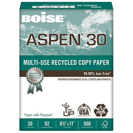 Image For Boise Aspen 30 Mulit-Use Recycled Copy Paper