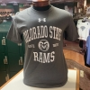 Image for Colorado State Rams Charcoal 60/40 Charged Short Sleeve tee