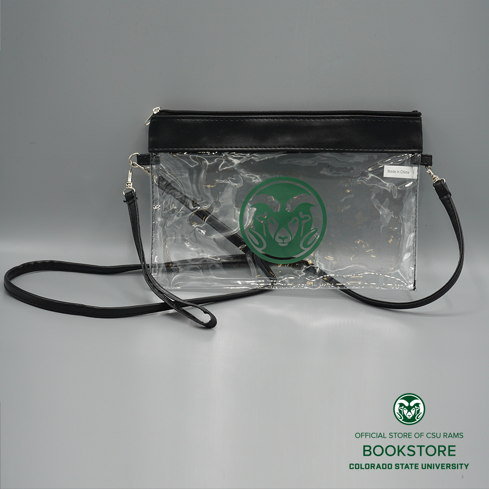 Image For Clear CSU Game Day Stadium Bag with Wristlet/Starp