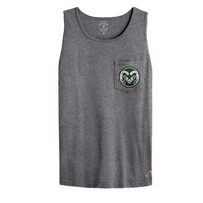 Image For CSU Mid-Night Heather Ram Head Pocket Tank by League