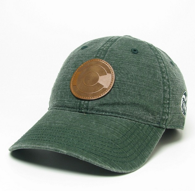 Image For CSU Green Legacy Slub Canvas Adjustable Hat