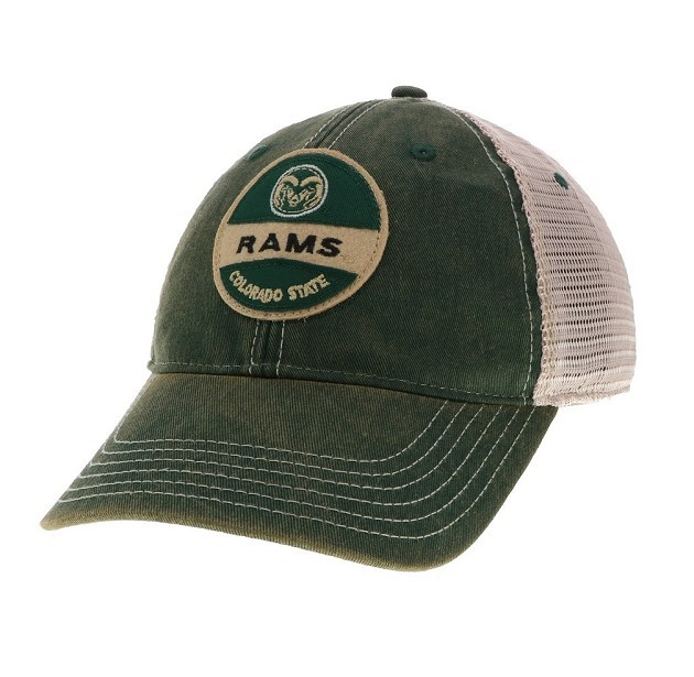 Image For Green Colorado State Old Fashioned Trucker Hat