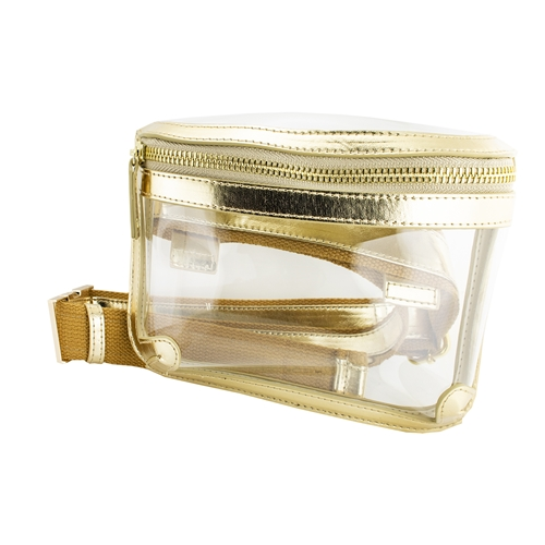 Image For Gold Belt Clear Bag
